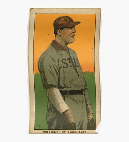 Benjamin K Edwards Collection Jimmy Williams St Louis Browns baseball card portrait Poster