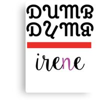 Red Velvet Irene Dumb Dumb 2 Canvas Print