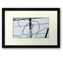 Barbed Wire and Ice Framed Print