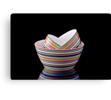 Stack of bowls Canvas Print