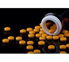 Yellow Pills Photographic Print