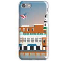 Annapolis, Maryland - Skyline Illustration by Loose Petals iPhone Case/Skin