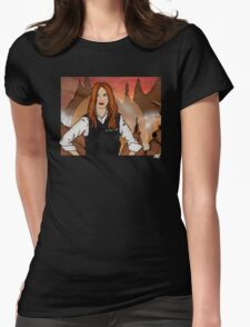 Amy Pond & Gallifrey V2 Womens Fitted T-Shirt