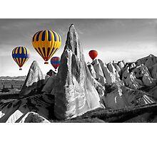 Hot Air Balloons Over Capadoccia Turkey Photographic Print