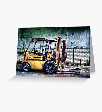 Fork Lifts Greeting Card