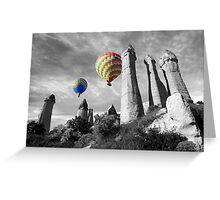 Hot Air Balloons Over Capadoccia Turkey - 2 Greeting Card