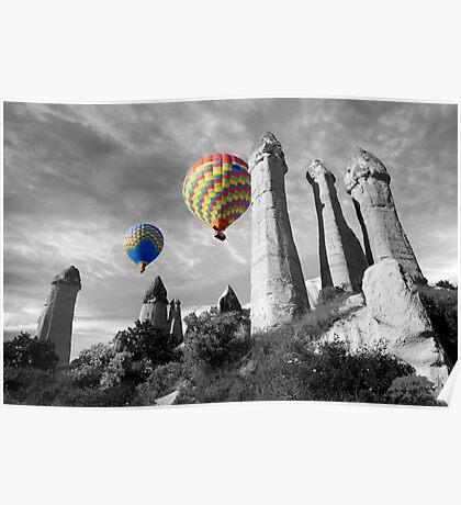 Hot Air Balloons Over Capadoccia Turkey - 2 Poster