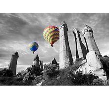 Hot Air Balloons Over Capadoccia Turkey - 2 Photographic Print