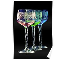 Colorful Glasses Poster