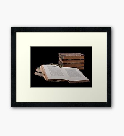 Old Books Framed Print