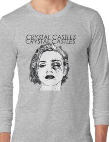 Crystal Castles Shirt RETRO Long Sleeve T-Shirt
