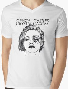Crystal Castles Shirt RETRO Mens V-Neck T-Shirt