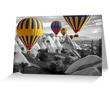 Hot Air Balloons Over Capadoccia Turkey - 3 Greeting Card