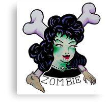 Zombie Girl Tattoo Flash Canvas Print