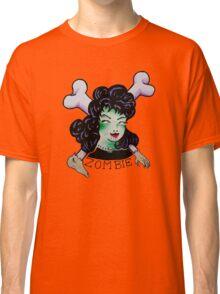 Zombie Girl Tattoo Flash Classic T-Shirt