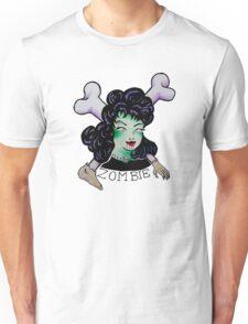 Zombie Girl Tattoo Flash Unisex T-Shirt