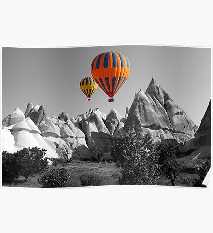 Hot Air Balloons Over Capadoccia Turkey - 5 Poster