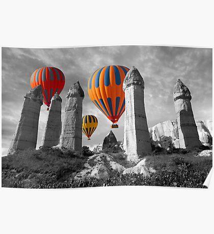 Hot Air Balloons Over Capadoccia Turkey - 6 Poster