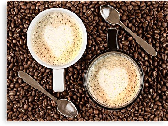 Caffe Latte for two by Gert Lavsen