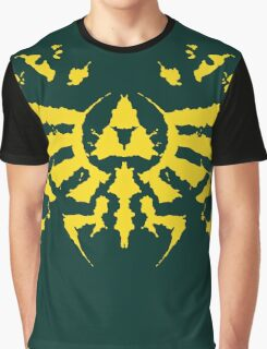 Hyrule Rorschach (gold) Graphic T-Shirt
