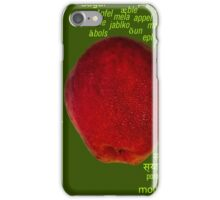 80 Different Ways To Say Apple From Around The World iPhone Case/Skin