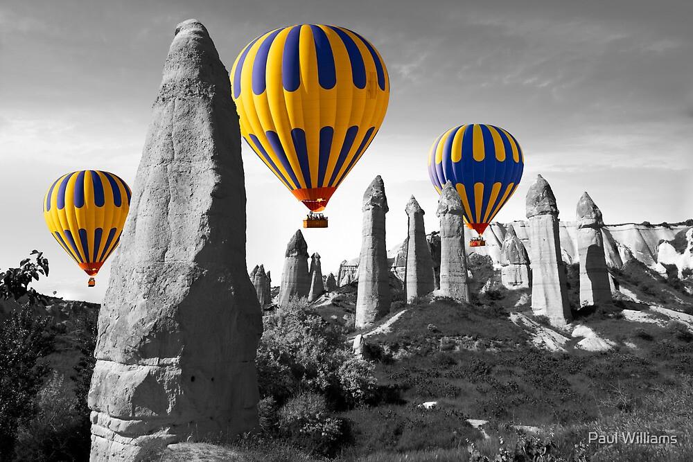 Hot Air Balloons Over Capadoccia Turkey - 8 by Paul Williams