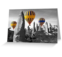 Hot Air Balloons Over Capadoccia Turkey - 8 Greeting Card