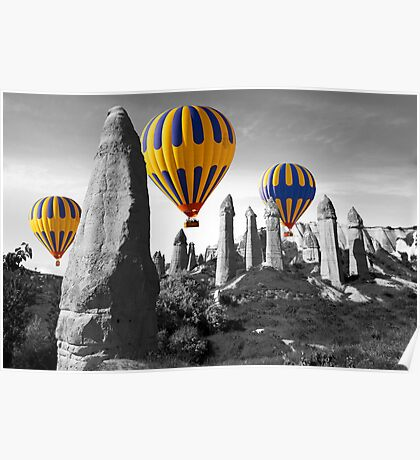 Hot Air Balloons Over Capadoccia Turkey - 8 Poster