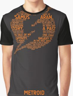 Metroid Typography Graphic T-Shirt