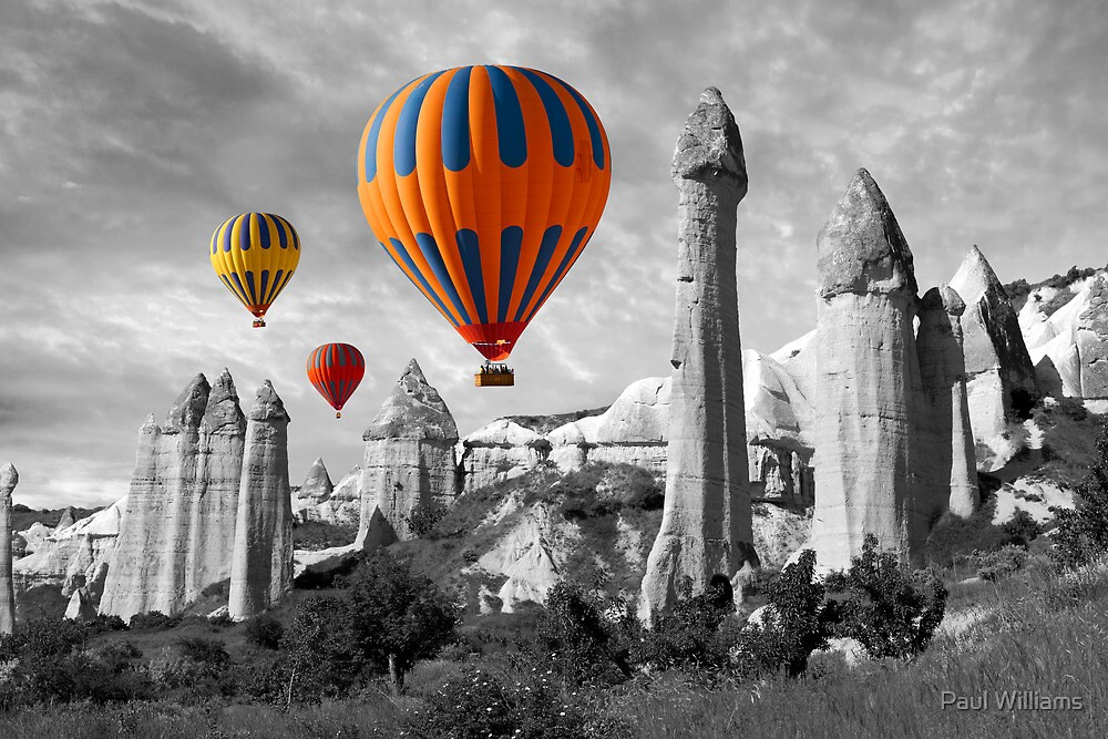 Hot Air Balloons Over Capadoccia Turkey - 9 by Paul Williams