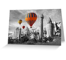 Hot Air Balloons Over Capadoccia Turkey - 9 Greeting Card