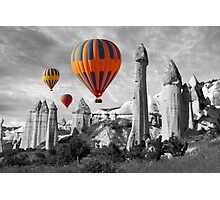 Hot Air Balloons Over Capadoccia Turkey - 9 Photographic Print