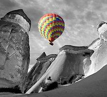 Hot Air Balloons Over Capadoccia Turkey - 10 by Paul Williams