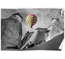 Hot Air Balloons Over Capadoccia Turkey - 10 Poster