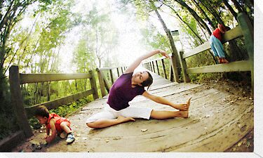 Yoga in the nature with kids by Wari Om  Yoga Photography