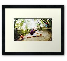 Yoga in the nature with kids Framed Print
