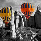 Hot Air Balloons Over Capadoccia Turkey - 12 by Paul Williams