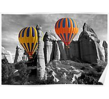 Hot Air Balloons Over Capadoccia Turkey - 12 Poster