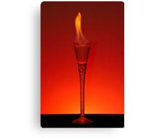 Flaming Hot Drink Canvas Print