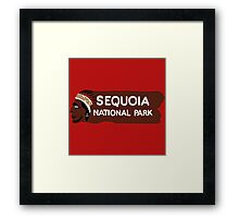 Sequoia National Park Entrance Sign, California, USA Framed Print