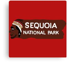 Sequoia National Park Entrance Sign, California, USA Canvas Print