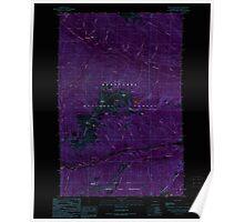USGS Topo Map Washington State WA Mount Howard 242496 1989 24000 Inverted Poster