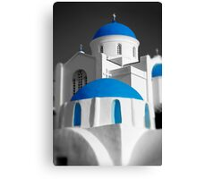 'Blue Domes' - Greek Orthodox Churches of the Greek Cyclades Islands Canvas Print