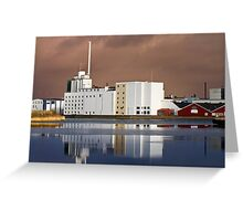 Harbour Building with reflections Greeting Card
