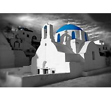 'Blue Domes' - Greek Orthodox Churches of the Greek Cyclades Islands - 2 Photographic Print