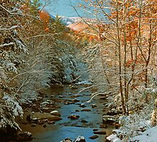 AUTUMN SNOW,LITTLE RIVER by Chuck Wickham