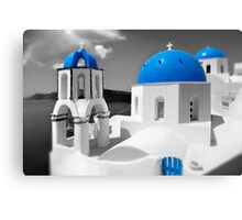 'Blue Domes' - Greek Orthodox Churches of the Greek Cyclades Islands - 4 Canvas Print