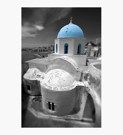 'Blue Domes' - Greek Orthodox Churches of the Greek Cyclades Islands - 6 Photographic Print