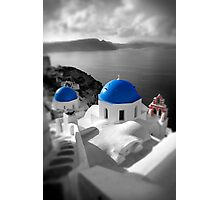 'Blue Domes' - Greek Orthodox Churches of the Greek Cyclades Islands - 9 Photographic Print