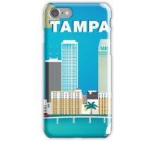 Tampa, Florida - Skyline Illustration by Loose Petals iPhone Case/Skin